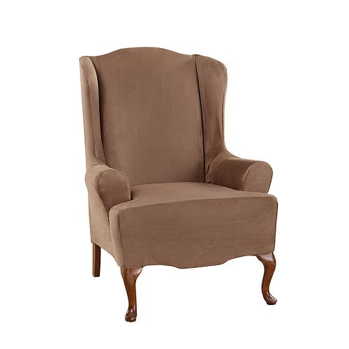 Sure Fit Ultimate Heavy Weight Suede Stretch Wing Chair Slipcover