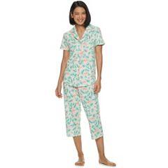 Women's Croft & Barrow® Sleep Shirt & Capri Pajama Set