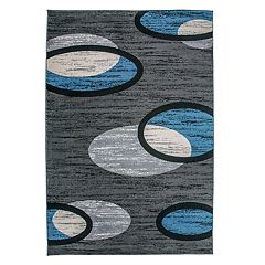 World Rug Gallery Modern Eclipse Geometric Rug