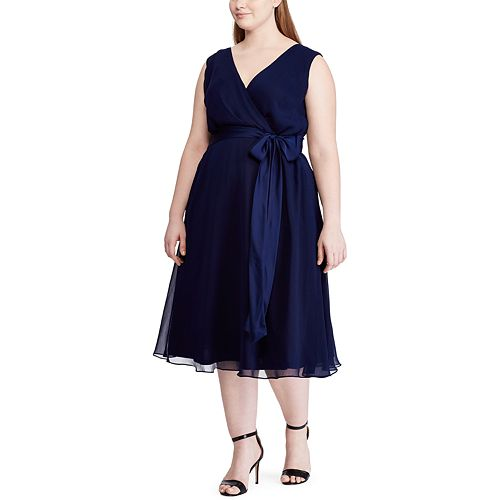 Plus Size Chaps Sleeveless Fit And Flare Dress