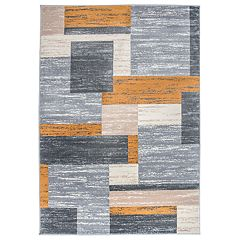 World Rug Gallery Geometric Boxes Design Rug