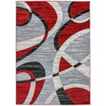 World Rug Gallery Contemporary Modern Shapes Rug