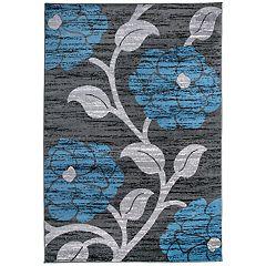 World Rug Gallery Floral Leaves Design Rug