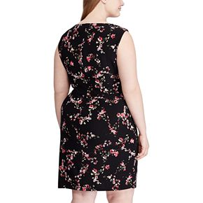 Women's Plus Size Chaps Sleeveless Faux Wrap Dress