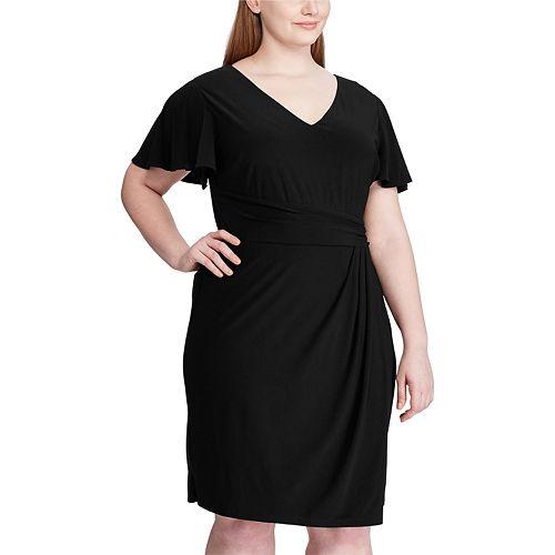 Women's Plus Size Chaps Flutter Sleeve Dress