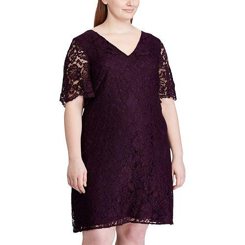 Women's Plus Size Chaps Elbow Sleeve Dress
