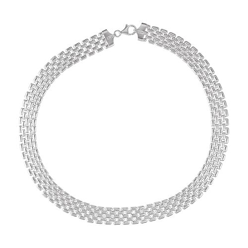Sterling Silver Panther Link Necklace