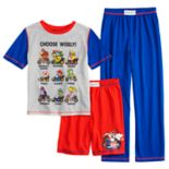Boys 4-12 Super Mario Bros. 3-Piece Pajama Set