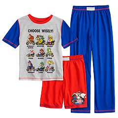 Boys 4-12 Super Mario Bros. 3-Piece Pajama Set