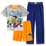 Boys 4-12 Teen Titans 3-Piece Pajama Set