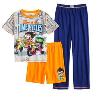 Boys 4-12 Teen Titans 3-Piece Pajama Set