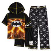 Boys 4-12 Batman 3-Piece Pajama Set