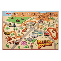 Disney / Pixar Cars Radiator Springs Play Area Rug - 4'6' x 6'6'