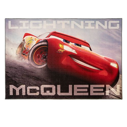 "Disney / Pixar Cars Lightning McQueen Area Rug - 4'6"" x 6'6"""