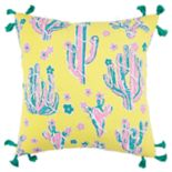 Simply Southern Ilona Cactus on Yellow Decorative Throw Pillow