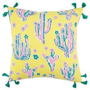 Simply Southern Ilona Cactus on Yellow Decorative Throw Pillow