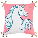 Simply Southern Roxana White Unicorn Decorative Throw Pillow