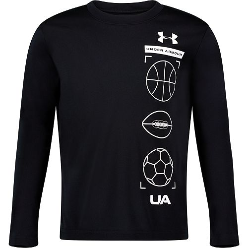 Boys 4-7 Under Armour Stacked Long-Sleeve Tee