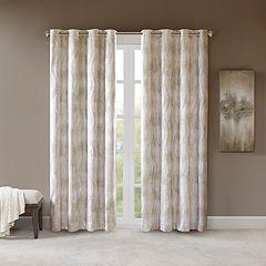 SunSmart Alastair Printed Jacquard Total Blackout Window Curtain