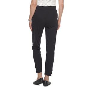 Women's Croft & Barrow® Lace-Up Hem Pull-On Ankle Pants