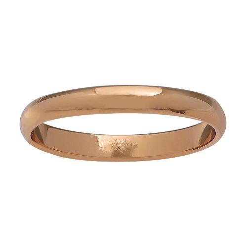 Primrose 18k Rose Gold Over Silver Band