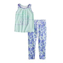 Toddler Girl Jumping Beans® Racerback Tank Top & Capris Set
