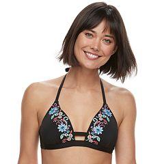 Women's Apt. 9® Embroidered Halter Bikini Top