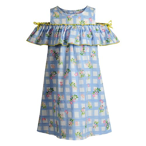 Girls 4-6x Youngland Floral Cold-Shoulder Dress