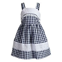 Girls 4-6x Youngland Embroidered Gingham Dress