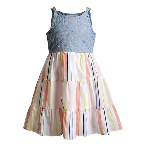 Girls 4-6x Youngland Woven Tiered Dress