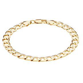 Men's 14k Gold Plated Cuban Chain Bracelet