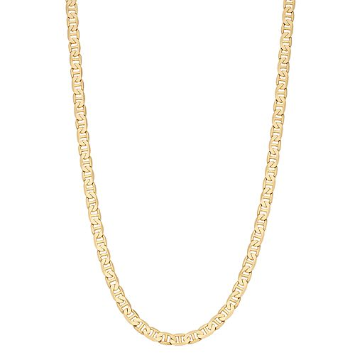 Men's 14k Gold Plated Mariner Chain Necklace