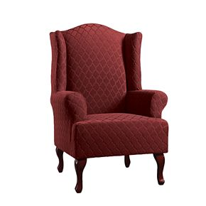 Sure Fit Stretch Grand Marrakesh T Cushion Wing Chair Slipcover