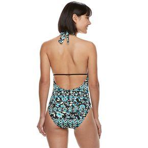 Women's Apt. 9® Plunge Halter One-Piece Swimsuit