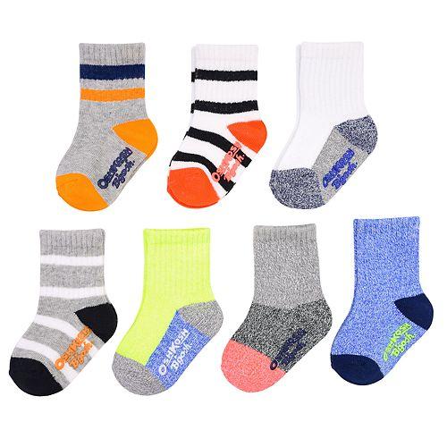 Baby / Toddler Boy OshKosh B'gosh® 7-pack Marled Crew Socks