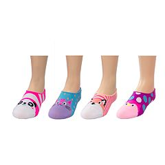 Girls 4-16 SO® 4-pack Microfiber Critter Liner Socks