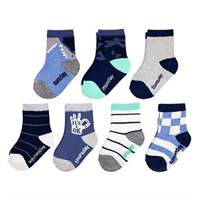 Baby / Toddler Boy OshKosh B'gosh® 7-pack Shark Crew Socks