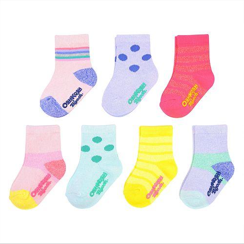 Baby / Toddler Girl OshKosh B'gosh® 7-pack Marled Crew Socks