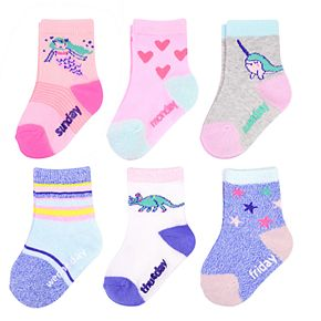 Baby / Toddler Girl OshKosh B'gosh® 7-pack Marled Unicorn Crew Socks