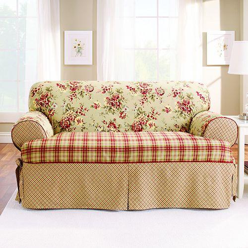 Sure Fit Lexington T Cushion Loveseat Slipcover
