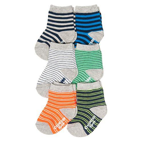 Baby / Toddler Boy OshKosh B'gosh® 6-pack Striped Crew Socks