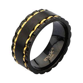 Men's Alternative Black & Gold Spinner Ring