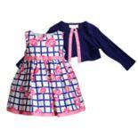 Toddler Girl Youngland Floral Dress & Knit Shrug Set