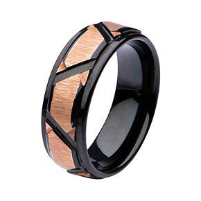 Men's Patterned Design Polished Ring
