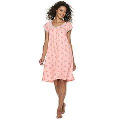 Petite Croft & Barrow® Scoopneck Printed Nightgown