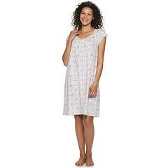 Petite Croft & Barrow® Scoopneck Printed Nightgown