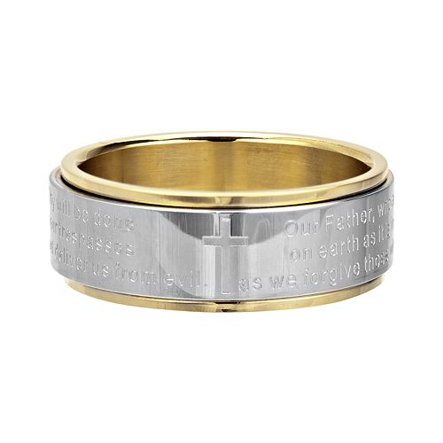 Men's Center Lord's Prayer Spinner Ring