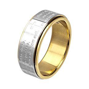 Men's Center Lord's Prayer Spinner Ring