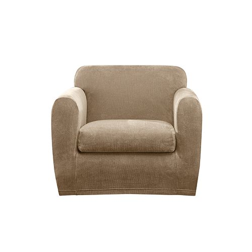 Sure Fit Ultimate Stretch Chenille 2-piece Box Cushion Chair Slipcover