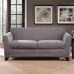 Sure Fit Ultimate Stretch Chenille Individual Box 2 Cushion Loveseat Slipcover